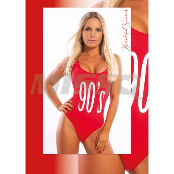"""MISSQ PAMELA EGYRÉSZES PIROS """"90"""""""